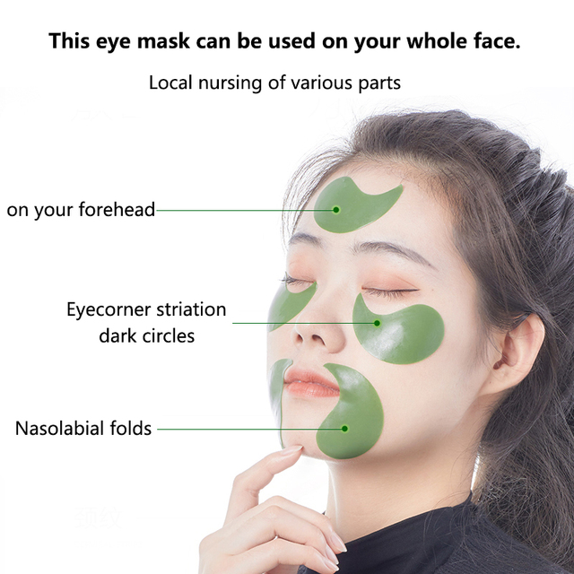 60 Pieces Golden Collagen Mask Lady Natural Moisturizing Gel Eye patches Remove Dark Circles Anti Age Bag Eye Wrinkle Skin Care 3