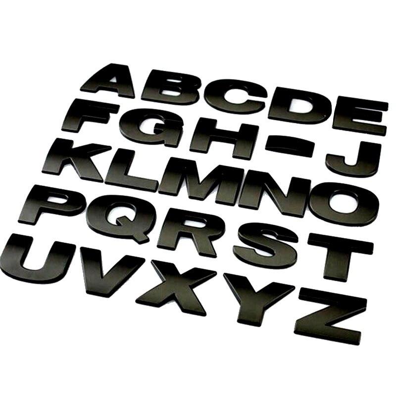 Chrome Black Coated Focus ST Letter Front Hood Grille Logo Badge Metal 3D Emblem