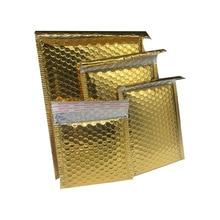 10pcs Gold Foil Plastic Padded Bubble Envelopes Bags Mailers