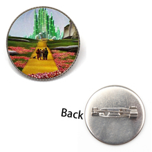 New Listing Cute Wizard of Oz Brooch City Badge Retro Gothic Glass Photo Fashion Jewelry Men and Women Party Gifts Souvenir Kids