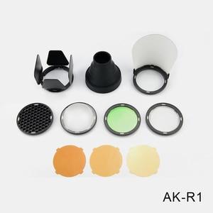 Image 5 - Godox AD200 V1 PRO Glash Accessory WITSTRO H200R Round Flash Head and EC 200 Extension Head AK R1 Color temperature reflector
