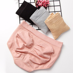 3D Women Panties Warm Uterus Abdomen Shaping Cotton Breathable Underwear Buttock Lifting Mid Rise Brief Lady Body Shaper Briefs