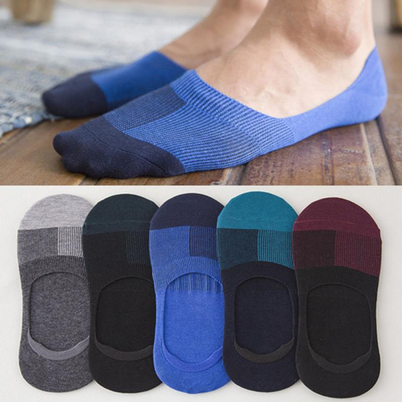 Men Low Cut Ankle Socks Casual Soft Cotton Sock Loafer Boat Non-Slip Invisible No Show Light And Comfortable Socks