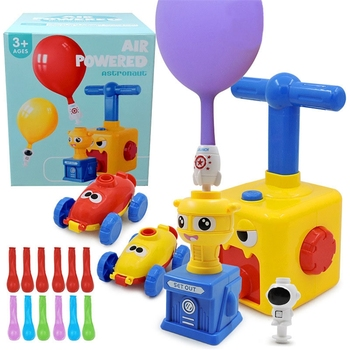 Samochody z napędem balonowym samochody z napędem aerodynamicznym zabawki edukacyjne zaopatrzenie firm tanie i dobre opinie OOTDTY Z tworzywa sztucznego CN (pochodzenie) odlew