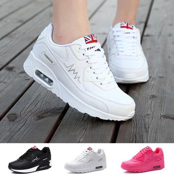 Women Walking Shoes Fashion Sneakers Women'S Air Cushion Breathable Comfortable Non-slip Lace-up Trail Shoes cozulma women candy color breathable canvas shoes lace up fashion sneakers female non slip casual shoes size 35 40