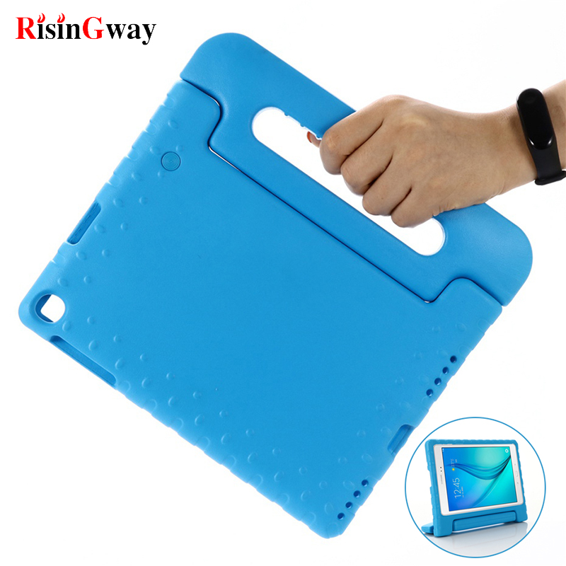 Kids Case for Samsung Galaxy Tab A 10.1 2019 Case Kids SM-T510 T515 Shockproof EVA Full Body Cover Handle Stand Case image