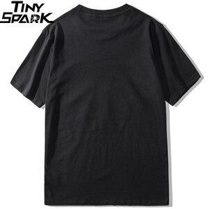 Image 2 - 2019 Men Hip Hop T Shirt Funny Smoking Mona Lisa T Shirt Streetwear Summer Tshirts Short Sleeve Cotton Tops Tees Street Wear