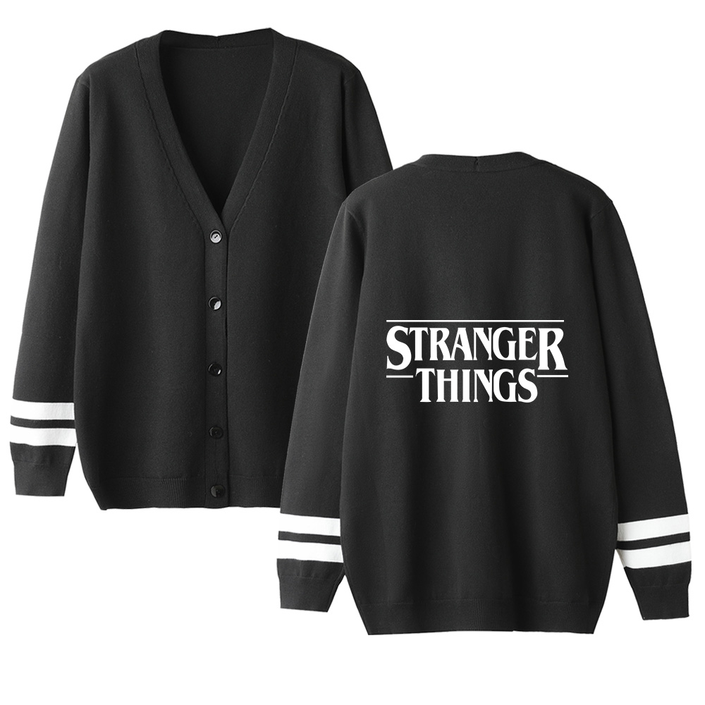 Women Cardigan Sweater Stranger Things V-Neck Long Sleeve Crochet Knit Sweater Autumn High Quality Lovers Classic Sweater Tops