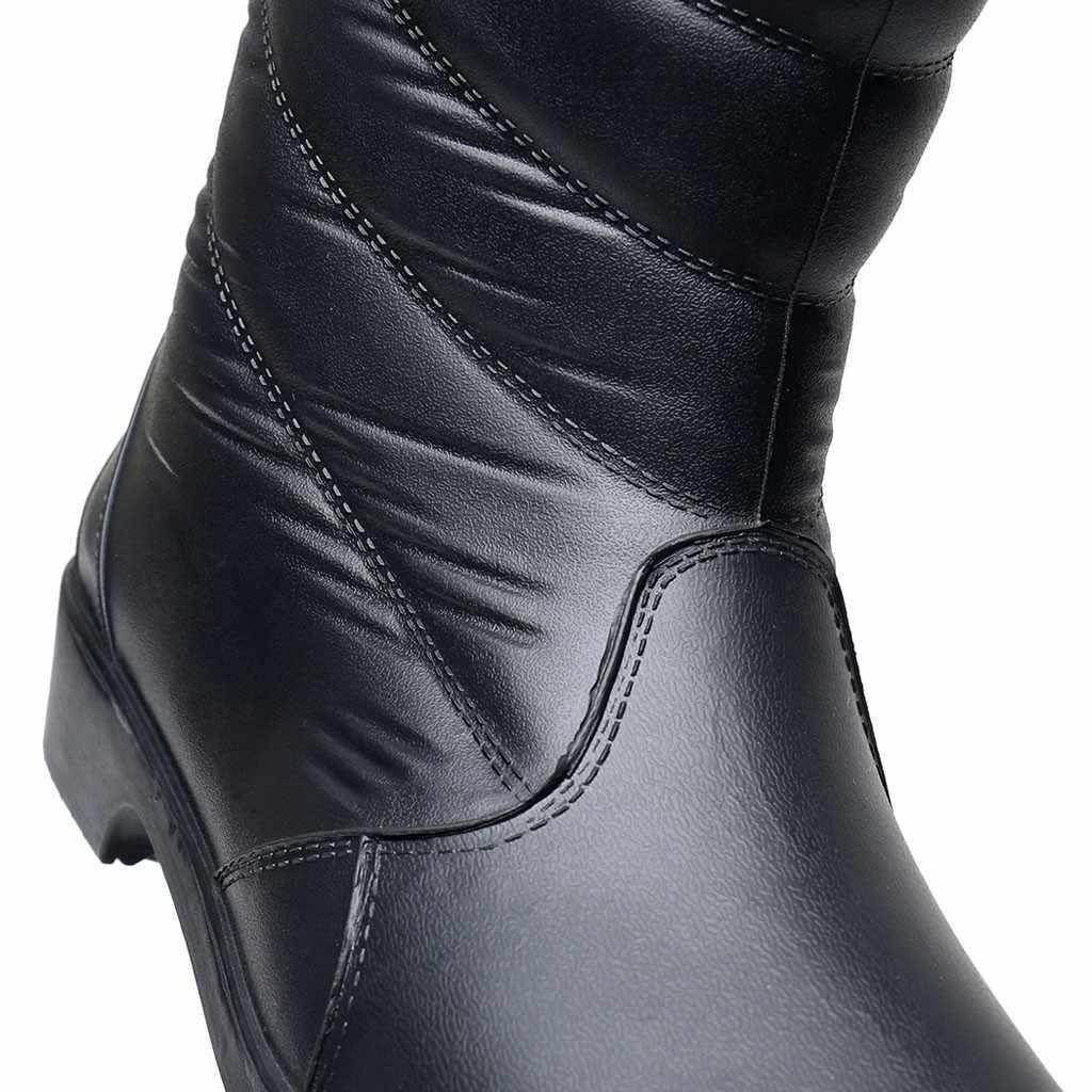 Kış peluş astarı kar botları orta buzağı sıcak tutmak siyah açık su geçirmez kadın botları eklemek pamuk Thic yağmur ayakkabıları botas mujer
