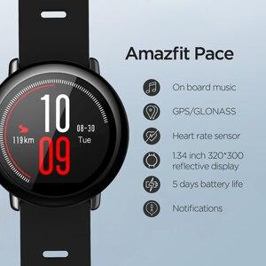 Image 3 - Русский Amazfit Pace Smartwatchนาฬิกาสมาร์ทบลูทูธเพลงข้อมูลGPS PUSHสำหรับAndroidโทรศัพท์redmi 7 IOS