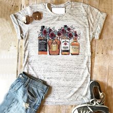 Beber camisa whisky camiseta impresión floral superior chicas cerveza camisetas suculentas camisas 90s mujeres vintage