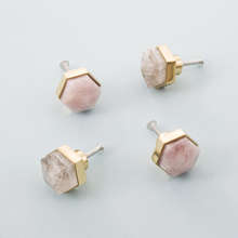 Hexagon Shape/crystal+brass Knob Dresser Drawer Knobs Pulls Handles/wine Cooler Pink Furniture Handle Pull Hardware