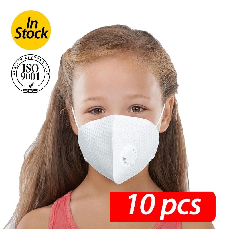 10PCS Mask For Children With Breathing Valve Professional Children's Mask Children's Mask Boy And Girl Mask