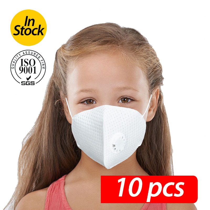 3PCS-10PCS Mask For Children With Breathing Valve Professional Children's Mask Children's Mask Boy And Girl Mask