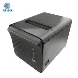 Pulpit 3 cal etykiety i drukarka pokwitowań termiczna 80mm USB/Bluetooth/Lan/seryjny drukarka termiczna obsługa android ios linux
