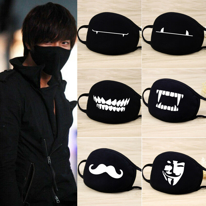 1 PCS Fashion Kawaii Kpop Unisex Men Women Cycling Cotton Mouth Face Mask Anti-Dust Respirator