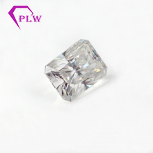 D color 1pcs 4 carat 8*10mm Radiant cut and 2pcs 5x4x2mm 0.4ct taper cut moissanite 3ex VVS for ring bracelet necklace
