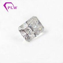 D cor 1 pces 4 quilates 8*10mm corte radiante e 2 pces 5x4x2mm 0.4ct taper corte moissanite 3ex vvs para anel pulseira colar