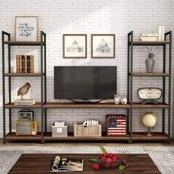 Tribesigns большой 3-секционный развлекательный центр настенный шкаф с хранения, книжная полка, книжная полка для гостиной