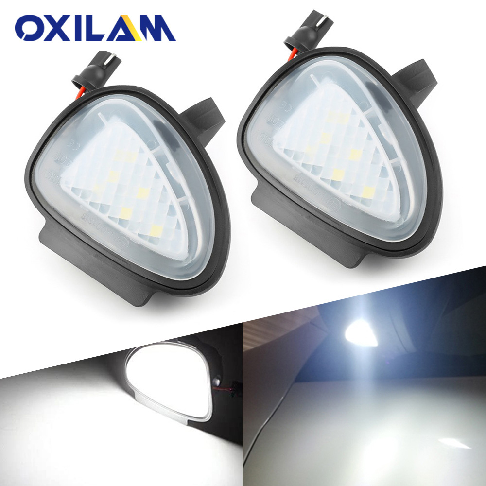 2x <font><b>Canbus</b></font> Error Free Car <font><b>Led</b></font> Under Side Mirror Puddle Semaphore Lights for <font><b>VW</b></font> Volkswagen Golf 6 golf6 Passat B7 Cabriolet Touran image