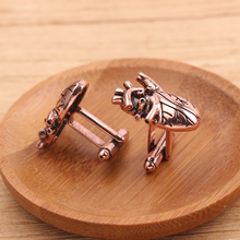 Cufflinks Jewelry Rose-Gold Personality Fashion High-Quality Heart Organ Doctors Medical-Research-Alloy