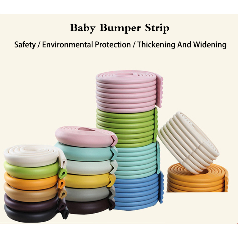 4M Children Protection Table Guard Strip Baby Safety Products Glass Edge Furniture Crash Bar Corner Foam Bumper Collision