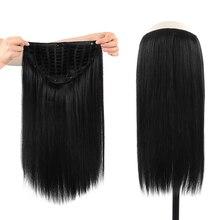 Парик длиной 8-24 дюйма с зажимом для наращивания волос, бразильские прямые волосы Remy, парик с U-образной частью, человеческие волосы плотност...