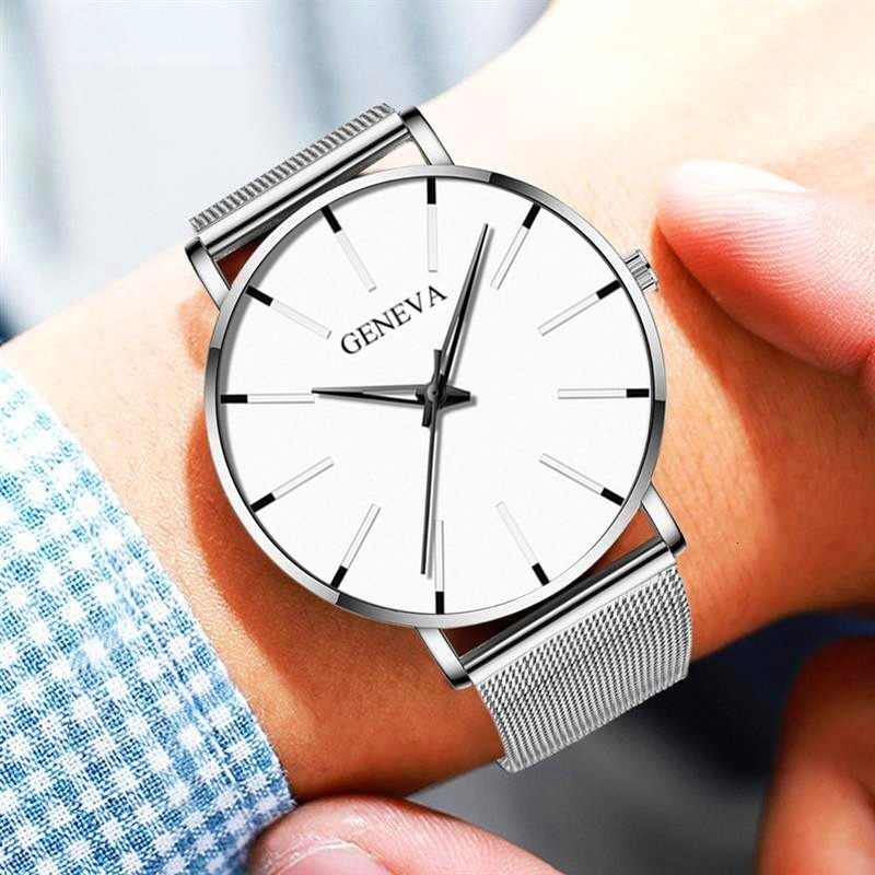 Watch Men Watch 2019 Ultra-Thin Business Men Watches Quartz Stainless Steel Band Simple Wrist Watch Male Clock Free Shipping