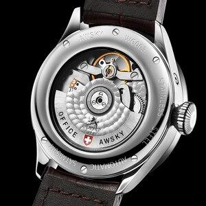 Image 5 - 2019 yeni erkek otomatik Pilot saatler çapı 41.5mm safir kristal 50m su geçirmez moda paslanmaz çelik erkek kol saati