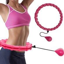 Ayarlanabilir spor çemberler karın ince bel egzersiz çıkarılabilir masaj çemberler Fitness ekipmanları spor salonu ev eğitim kilo kaybı