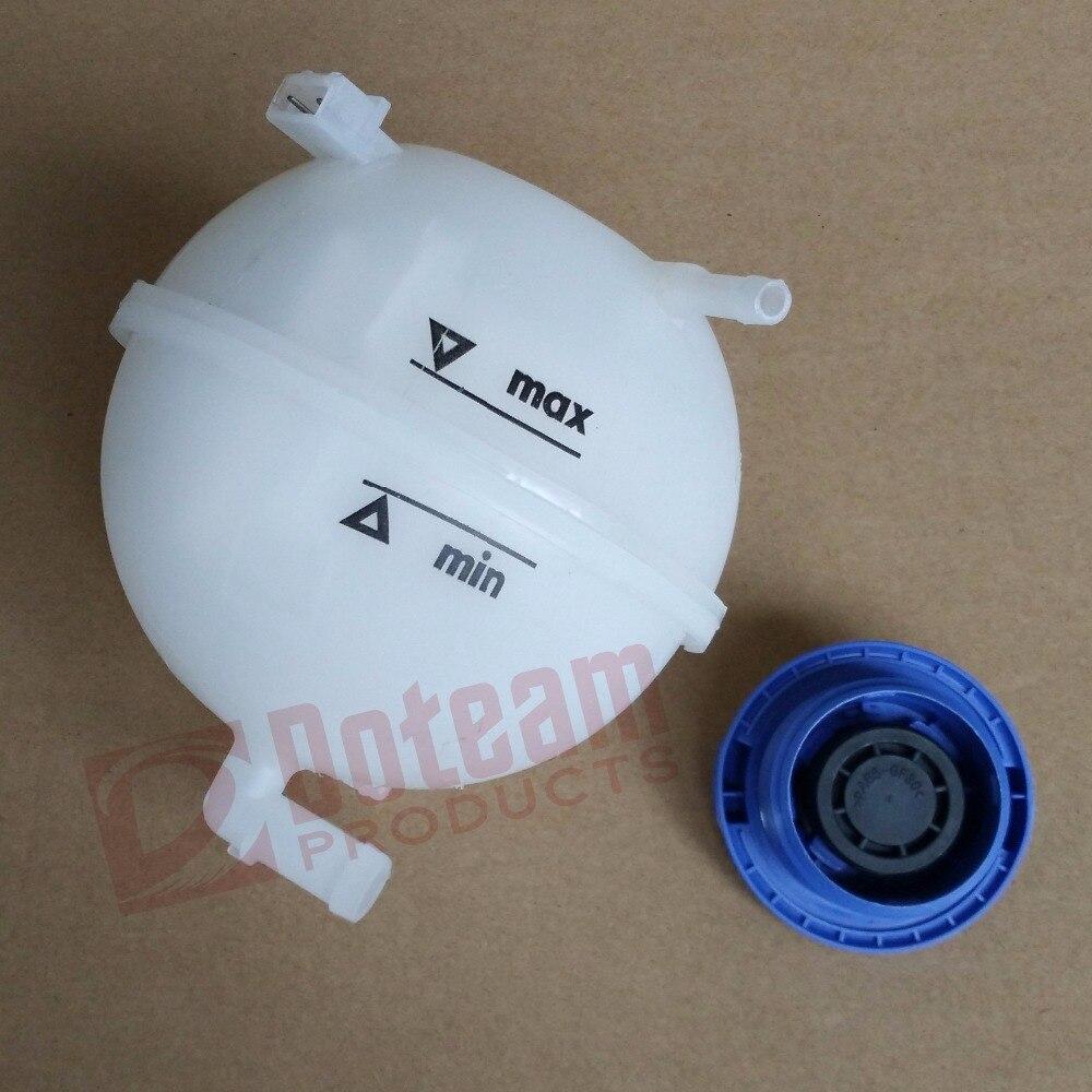 Réservoir d'expansion de liquide de refroidissement + bouchon pour VW GOLF MK2 MK3 CADDY JETTA PASSAT POLO berline 1H0121407A 357121407A