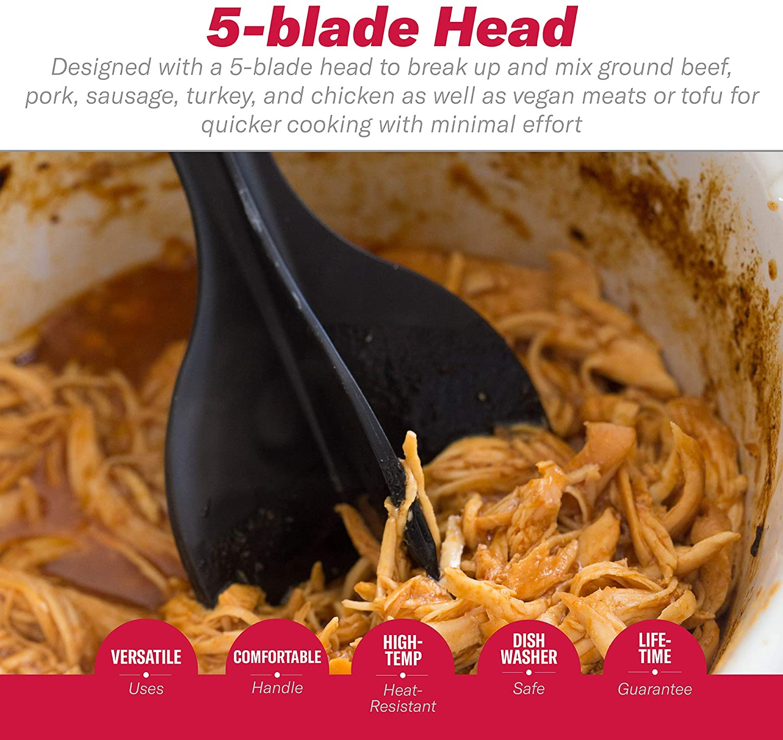 5-Blade Manual Hamburger Meat Chopper Grinders Vegetable Fruit Twist Shredder Kitchen Stirring Tools Cooking Baking Accessories