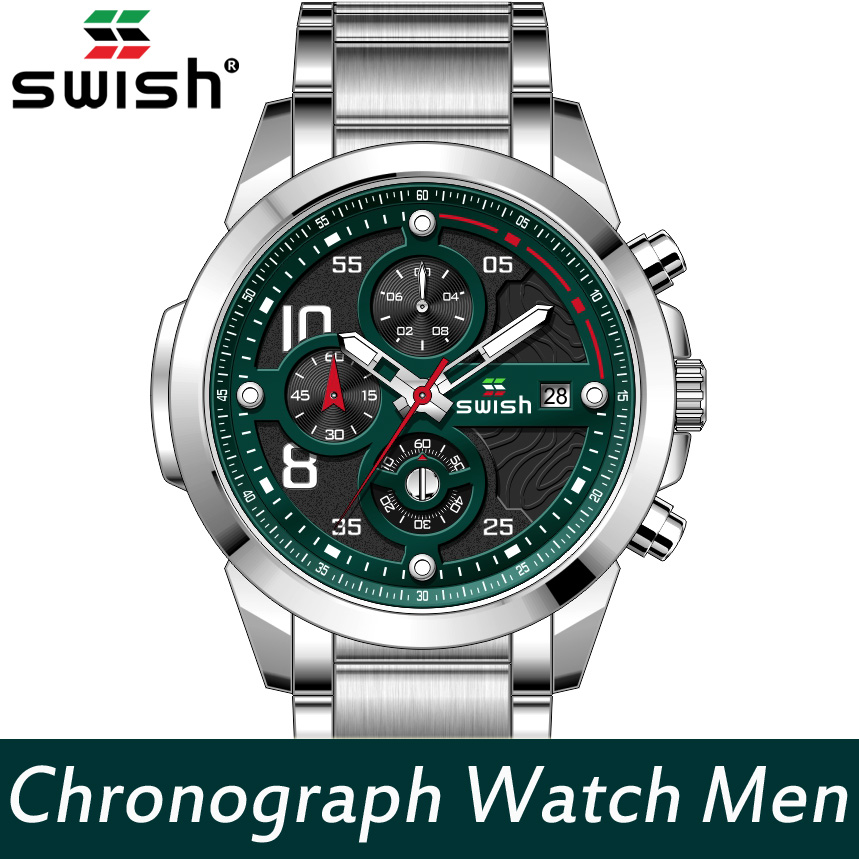 SWISH Men Military Watches Casual Brand Stainless Steel Quartz Watch Waterproof Sports Wristwatch Male Relojes Hombre 2020