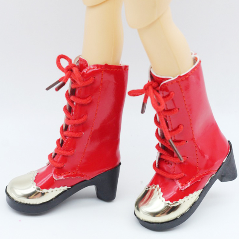 New arrivals 1 Pair Pink Boots For <font><b>BJD</b></font> <font><b>Doll</b></font> Toy Mini <font><b>Doll</b></font> <font><b>Shoes</b></font> for Sharon <font><b>Doll</b></font> Boots <font><b>Dolls</b></font> Accessories Hot Sale 7.5CM 170 image