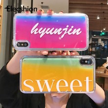 Luminous Quicksand Phone Case For iPhone 6 6s 7 8Plus Gradient iPhone Case For XS XS Max Colorful TPU Cellphone Cover For iPhone(China)