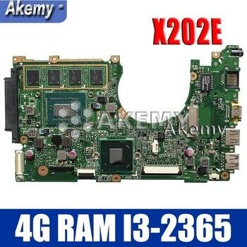 Amazoon  X202E Laptop motherboard for ASUS X202E X201E S200E X201EP Test original mainboard   4G RAM I3-2365 CPU