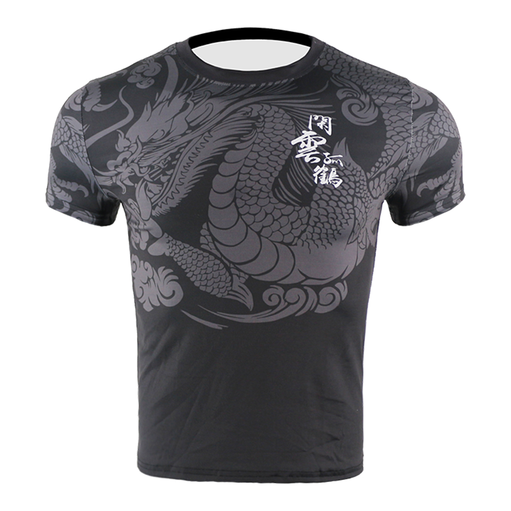 Chinese Men Dragon Quick Dry Fighting Mma Jerseys Compression Kick Boxing Training T Shirt Tiger Muay Thai Sweatshirt Jiu Jitsu Consumers First