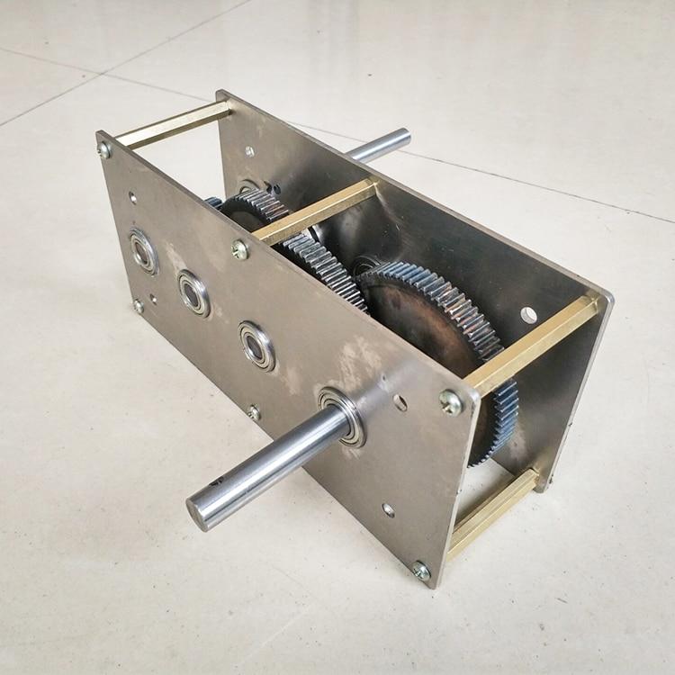Hand-cranked generator speed-increasing gear box, wind-hydraulic transmission diy gear set, gearbox, reduction box