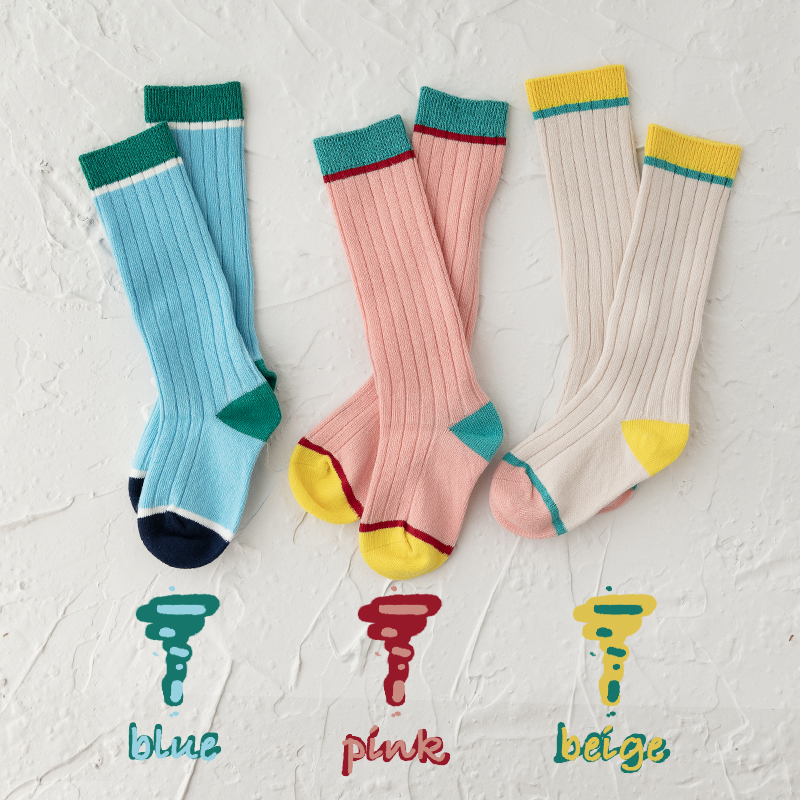 EnkeliBB Nice Color Spring Baby Boys Girls Cotton Tube Socks New Design Beautiful Colors Blue Pink Kids Socks Stylish Matching