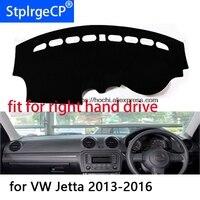 Para Volkswagen VW jetta de mano derecha del salpicadero de la alfombrilla de protección negro redcar-estilo Interior de reajuste de los productos de la alfombrilla adhesiva