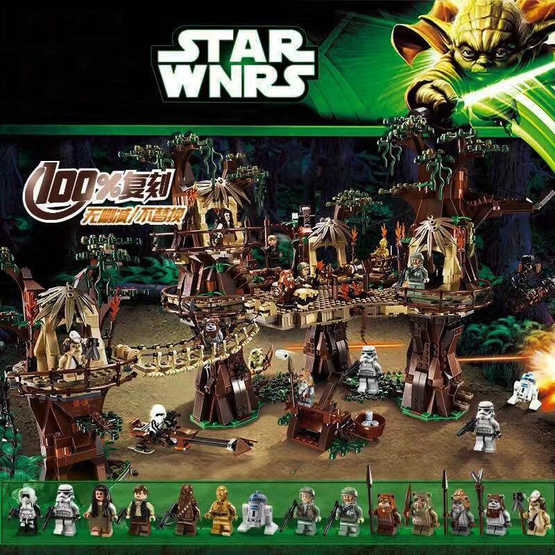 Star Toys Wars Compatible Lepinblock Ewok Village Wars Set Building Block Bricks Kids Toys Christmas Gifts