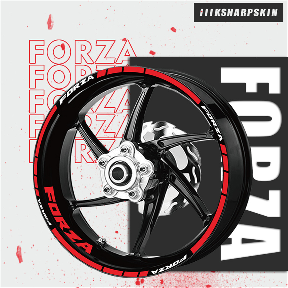Wheel Stickers Personalized Stripes Reflective Motorcycle Stickers Waterproof Sunscreen Wheel Sticker For Honda FORZA