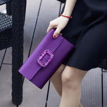 С украшением в виде кристаллов со стразами; на заклепках; квадратная пряжка; Для женщин вечерняя сумочка; BS010 перекрестной через плечо сумка клатч кошелек Повседневное Сумочка для вечерние банкет
