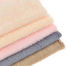 Сплошной цвет мягкий искусственный мех A4 ткань лоскутное женские сумки одежда пальто лоскутное Ремесло Украшение материал