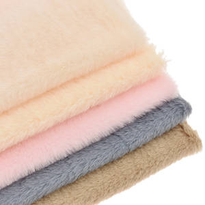 Solid Color Soft Artificial Fur A4 Fabric Patchwork Women Bags Clothing Coat Quilting Craft Decoration Material