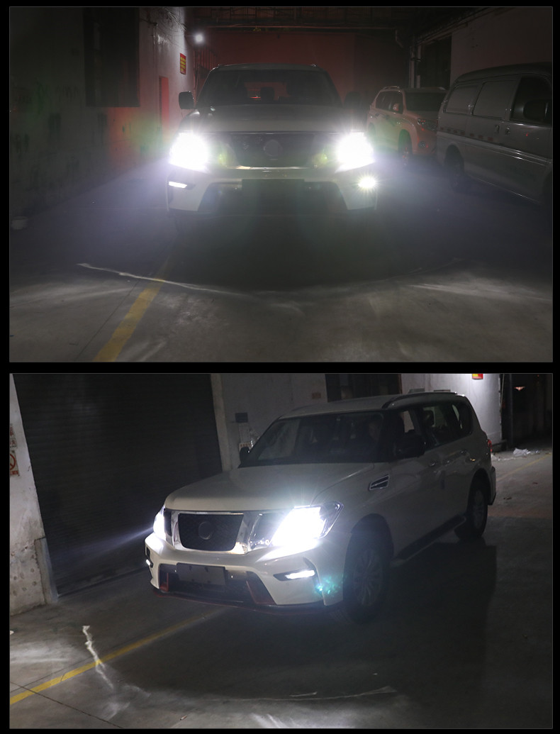 <font><b>Headlight</b></font> Bulbs FOR Nissan Patrol y62 <font><b>LED</b></font> <font><b>Headlight</b></font> Kit Turbo Fan 12V <font><b>360</b></font> Degree 6500K Patrol y62 image