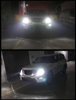 цена на Headlight Bulbs FOR Nissan Patrol y62  LED Headlight Kit Turbo Fan 12V 360 Degree 6500K Patrol y62