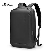 Mark Ryden plecak biznesowy mężczyźni 15.6 cala praca w biurze męski plecak usb-charging Slim Laptop plecak mężczyźni wodoodporna torba
