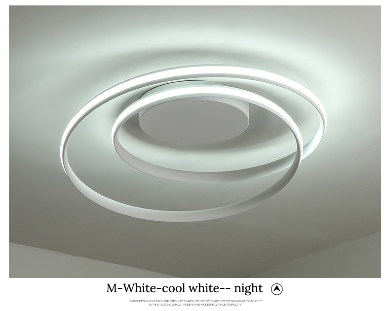 H99aa011e7d814418a6df7a718016eed3a Modern Ceiling Lights LED Lamp For Living Room Bedroom Study Room White black color surface mounted Ceiling Lamp Deco AC85-265V