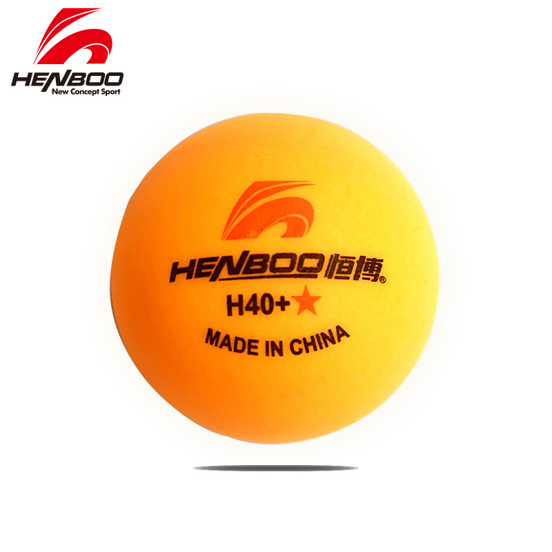 HENBOO 1-Star 10 Pcs/lot Table Tennis Balls Ping Pong Balls  New Material 1-Star Seamed ABS Balls Plastic Poly Ping Pong Balls